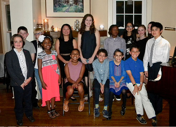 Students from Monday night's recital